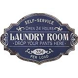 "20"" L X 13.25"" H Metal Laundry Room Wall Decor"