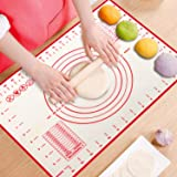 ProAussie Large Silicone Baking Mat for Rolling Dough (40cmx60cm) Pastry Mat with Measurements Extra Thick Non Stick Fondant