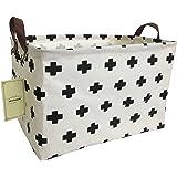 HIYAGON Rectangular Storage Box Basket Baby, Kids Pets - Fabric Collapsible Storage Bin Organizing Toys,Nursery Basket,Clothi