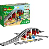 LEGO DUPLO Town Train Bridge and Tracks 10872 Building Kit (26 Piece), Multicolor