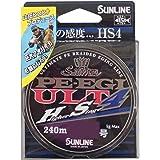 サンライン(SUNLINE) PEライン ソルティメイト PEエギ ULT HS4 240m 0.6号 4.5kg 4本 ホワイト・ピンク・ライトグリーン