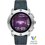 Diesel On Men's Axial Stainless Steel Touchscreen Smartwatch with Speaker, Heart Rate, GPS, NFC, and Smartphone Notifications