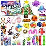 Christmas Gift Fidget Toys 24 Days Countdown Advent Calendar with 27PCS Pressure-Relief Fidget Toys Pack, Sensory Fidget Toy
