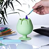 FIOEOZ Suctioned Vinyl Weeding Scrap Collector, Wine Cup Shaped Organizer for Cricut Tools and Accessories (Mint Green)