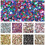 """9 pcs 8"""" x 13"""" (20cm x 34cm) Colorful Mixed Color Glitter Fabric Thick Canvas Back Craft for Handmade DIY Hair Bows Mobile Ph"""