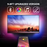 "9.8Ft TV Backlights USB Light Strip Kit for 46""-55"" TV, Mirror, PC, APP Control Sync to Music, Bias Lighting, 5050 RGB Waterp"
