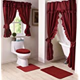 Madison Starlite Deluxe Swag Ruby Shower Curtain
