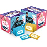 Care Touch Flushable Wet Wipes - 80 Individually Wrapped Personal Wipes for Bathroom or Toilet – 2 Packs of 40 Wet Wipes for