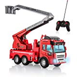 Advanced Play fire Truck Toy Remote Control with Lights and Sounds Extending Rescue Ladder fire Engine Toys for Boys and Girl
