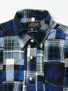 Patchwork Check Buttondown Shirt 11-11-3457-139: Blue
