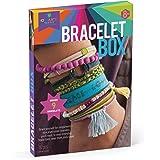 Craft-tastic Box – Jewelry Making Craft Kit Includes 9 DIY Bracelets – Jewel Tones Edition