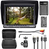 Neewer F100 Camera Field Monitor Kit:7 inches Ultra HD 1280x800 IPS Screen Field Monitor+F550 Replacement Battery+Micro USB B