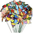 VGOODALL Butterfly Stakes, 50pcs 11.5inch Garden Butterfly Ornaments, Waterproof Butterfly Decorations for Indoor/Outdoor Yar