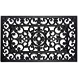 J & M Home Fashions Wrought Iron Natural Rubber Doormat, 18 by 30-Inch