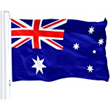 G128 - Australia (Australian) Flag | 3x5 feet | Printed 150D - Indoor/Outdoor, Vibrant Colors, Brass Grommets, Quality Polyes
