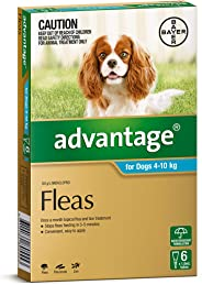 Advantage for Dogs 4-10kg, 6 Pack