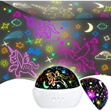 Unicorn Toys for 2-8 Year Old Girls Boys,Star Projection Cool Kids Toys for 3-9 Year Olds Boys 2 in1 Popular Presents Christm