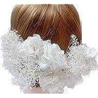 花職人の店 いるでぱいん あじさい 5本 かすみ草 5本 10本セット 髪飾り 成人式 卒業式 結婚式 プリザーブドフラ…