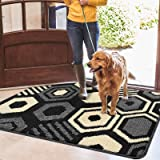 "Color&Geometry Indoor Doormat, Outdoor Indoor Mat 32""x20"", Waterproof, Non Slip Washable Quickly Absorb Moisture and Resist D"