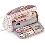 EASTHILL Big Capacity Colored Canvas Storage Pouch Marker Pen Pencil Case Simple Stationery Bag Holder for Middle High School