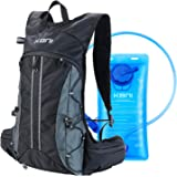 KBNI Hydration Backpack with 2L Water Bladder Portable Water Pack Backpack Lightweight Hydration Backpack Reservoir with LED