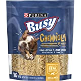 Purina Busy Rawhide Small/Medium Breed Dog Bones, Chewnola with Oats & Brown Rice - 10 ct. Pouch