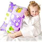 Toddler Pillowcase 13x18 by Comfy Turtles, 100 Natural Cotton, or Get a Smile from a Kid with Cute Animals of this Soft Pillo