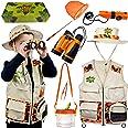 Safari Kidz - Complete Outdoor Adventure Set. Perfect Safari, Hunting, Park Ranger Costume with Vest, Hat, Binoculars, Bug Ne