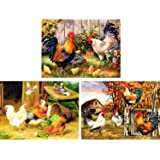 HaiMay 3 Pieces DIY 5D Diamond Painting Kits for Adults Paint by Number Kits Full Drill Painting Diamond Pictures Arts Craft