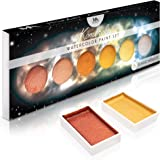 MozArt Supplies Metallic Komorebi Watercolour Paint Set, with 6 Shimmery Colours, Portable and Lightweight, Perfect for Artis