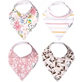 "Baby Bandana Drool Bibs for Drooling and Teething 4 Pack Gift Set ""Olive"" by Copper Pearl"