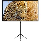 Portable Projector Screen with Stand, Outdoor Movie Screen, 80 Inch 16:9 Light-Weight, Mobile and Compact, Easy Setup and Car