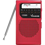AM FM Battery Operated Portable Pocket Radio - Best Reception and Longest Lasting. AM FM Compact Transistor Radios Player Ope