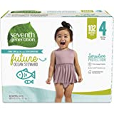 Seventh Generation Baby Diapers Giant Pack for Sensitive Skin Size 4