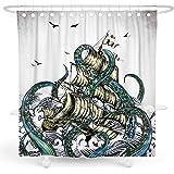 DESIHOM Octopus Shower Curtain Kraken Shower Curtain Nautical Shower Curtain Ocean Shower Curtain Sea Life Anime Shower Curta