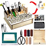 447 Pieces Leather Working Tools and Supplies with Instruction, Leathercraft Tools Kit, Leathercraft Tools Holder, Leather Cr
