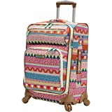 Lily Bloom Carry On Expandable Design Pattern Luggage With Spinner Wheels (20in, On the Prowl)