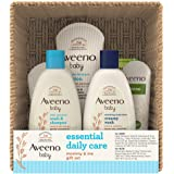 Aveeno Baby Essential Daily Care Baby & Mommy Gift Set featuring a Variety of Skin Care and Bath Products to Nourish Baby and