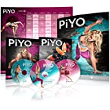 Beachbody Chalene Johnson's Piyo Base Kit - DVD Workout with Exercise Videos + Fitness Tools and Nutrition Guide