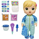 Baby Alive Doll - Mix My Medicine Blonde Baby Doll - Drinks, Wets incl Kitty-Cat Pajamas & Doctor Accessories - Nuturing doll