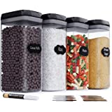Chef's Path Airtight Extra Large Food Storage Container - 4 PC Set/All Same Size - Kitchen & Pantry Dry Food Containers - Ide