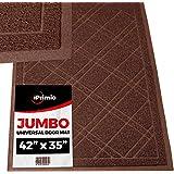 """SlipToGrip Jumbo Door Mat Indoor / Outdoor 42""""x35"""" Brown Duraloop"""