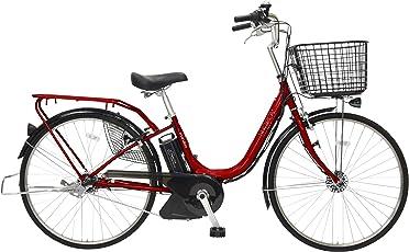 marukin(マルキン) 自転車 パンクしない電動アシスト 26型 ショプカHBプラス 大容量リチウム8.7Ah 内装3段 ダークレッド MK-15-019 MK-15-019