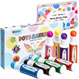 Dot Markers Kit, Ohuhu 8 Colors Paint Marker with a Blank 30 Pages Marker Pad, Water-Based Non-Toxic Bingo Daubers for Kids C