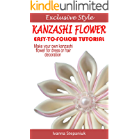 Kanzashi Tutorial - How to Make a Kanzashi Fabric Flower (En…
