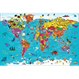 Collins Children's World Map [Second Edition]: An illustrated poster for your wall