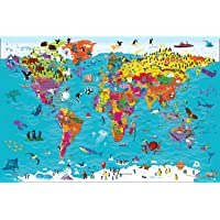 Collins Children's World Wall Map: An Illustrated Poster for…