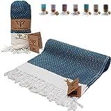 Smyrna Original Turkish Beach Towel   100% Cotton, Prewashed, 39 x 71 Inches   Peshtemal and Turkish Bath Towel for SPA, Beac