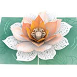 Lovepop Lotus Bloom Pop Up Card - 3D Card, 3D Greeting Card, Pop Up Anniversary Card, Mother's Day Card, Card for Mom, Card f
