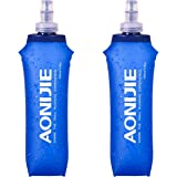 TRIWONDER TPU Soft Folding Water Bottles BPA-Free Collapsible Flask for Hydration Pack - Ideal for Running Hiking Cycling Cli